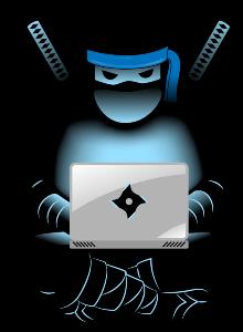 produktywny ninja z laptopem