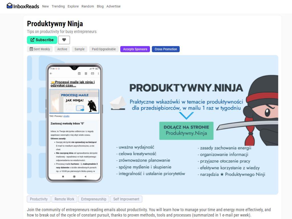 Produktywny Ninja Inboxreads