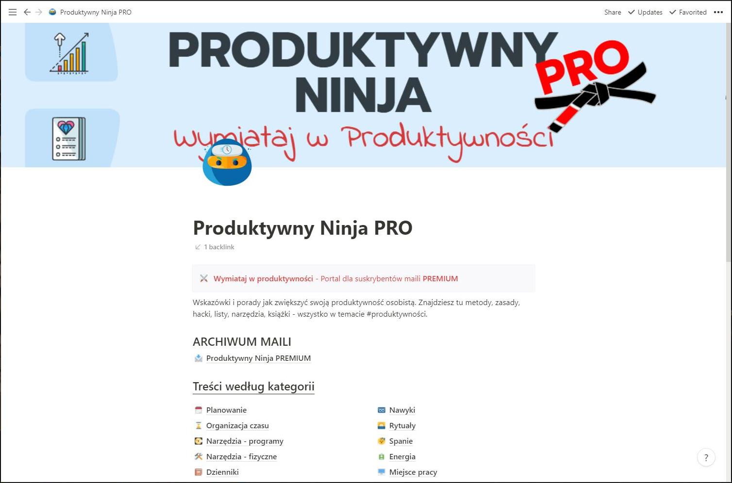portal Produktywny Ninja PRO